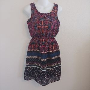 Indulge bright abstract Aztec southwest dress